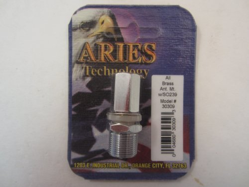 Aries CB Radio All Brass Antenna Mount w/SO239