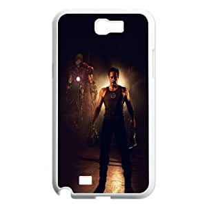Samsung Galaxy N2 7100 Cell Phone Case White hf26 ironman avengers art robert downey jr film hero JNR2107660