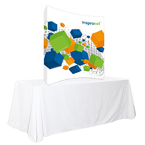 Vispronet Trade Show Display - Pop up Booth Curved (5ft x 5ft) by Vispronet
