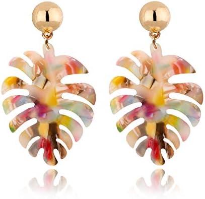 Acrylic Earrings Statement monstera Fashion product image