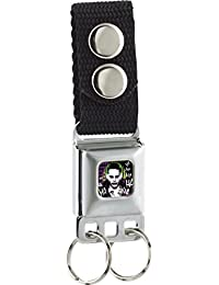 Buckle-Down Keychain - Suicide Squad Joker Pose/ha Ha Ha/diamonds Full C Accessory, -Multi-Colored, One Size