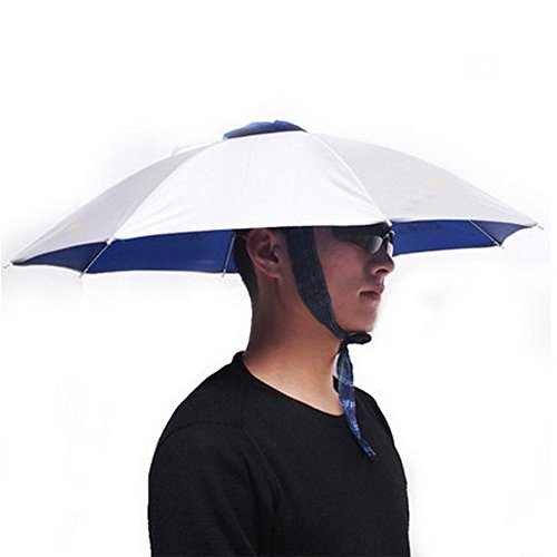 Silver Umbrella Hat Headwear for Fishing Gardening, 24