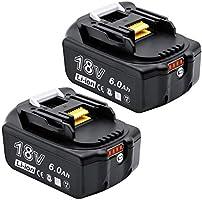 None Akkopower マキタ 18v バッテリー bl1860b 6.0Ah マキタ18v互換 バッテリーBL1830 BL1840 BL1850 BL1860 リチウムイオン電池 PSE取得済み BL1860B2個セット