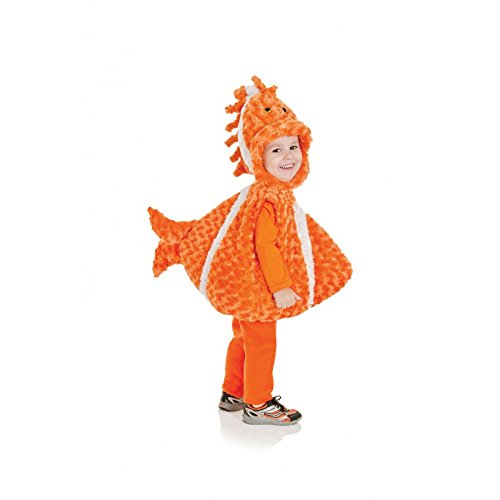 Underwraps Toddler's Big Mouth Clown Fish Belly Babies Costume