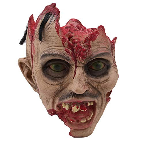 Dolland Rotted Zombie Head Prop Halloween Horrifying Toys Laboratory Display Halloween Props Decorations,Type -