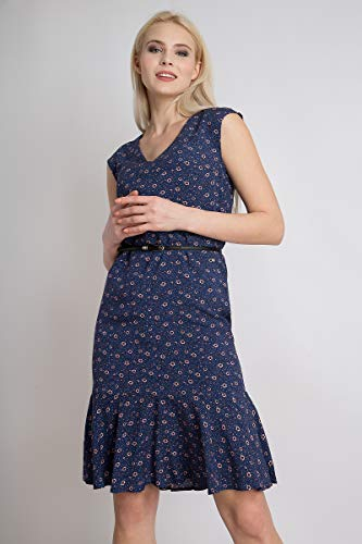Blumenprint Flare Finn bezauberndem mit Blue Cosmic Damen Sommerkleid wOXqTXa