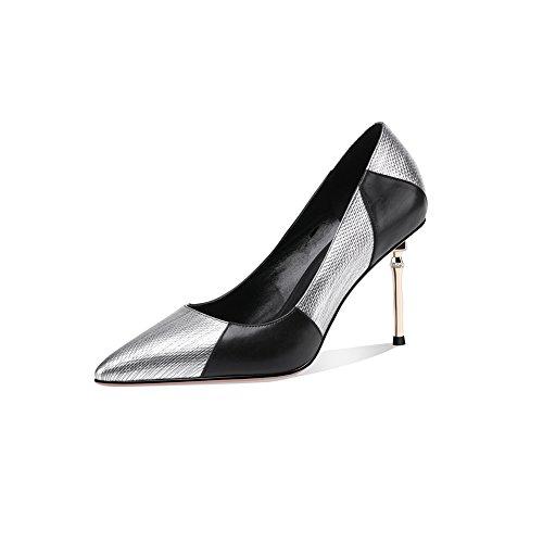 Chaussures Ly Et Haut Talons Sandales DALL 5 Talons 8cm Pour Silver Printemps Tête UK EU Couleur Femmes Or 3 719 35 35 CN Été Pointue 7 Mince Escarpins Hauts taille q6wax5wt