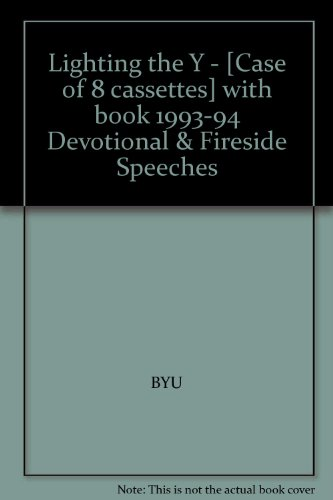 Lighting the Y - [Case of 8 cassettes] with book 1993-94 Devotional & Fireside Speeches