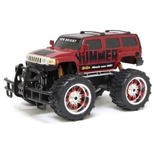 New Bright 1:10 R/C F/F Red Hummer H3 , Includes 9.6V Power Pack, Batteries & Charger - Red RB , Kid ,Toy , Hobbie , Nice Gift