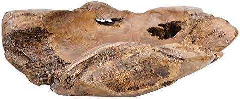 Exklusive XXL madera de teca bandeja root 65 cm de madera de teca ...