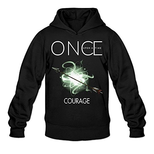 YQUE Men's Once Upon A Time Courage Poster Hoodies Hooded Sweatshirt Size L - Seasons 4 Greensboro