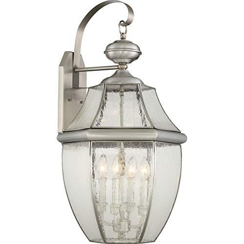(Quoizel NY8416P  Newbury 4-Light Outdoor Lantern, Pewter)