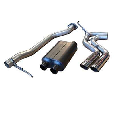 Flowmaster 17395 Cat-back System - Dual Same Side Exit - American Thunder - Aggressive Sound: Automotive