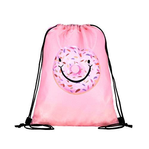 21e517f06d1d LIHI Bag 10 Pack Kids Nylon Party Supplies Favors Gift Drawstring Backpack  Bags,Pig Donut