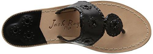 JACK ROGERS PALM BEACH - Sandalias para mujer Black/black