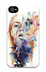 Owl 3D Hard Plastic For Apple Iphone 5C Case Cover (Art Painting) -70917
