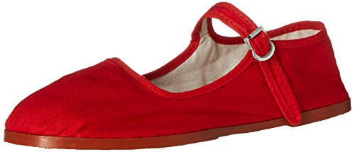 China Ballet 114 Shoes Doll Shoes Shoes Jane Cotton Ballerina Red Womens Mary 18 Flats RwzqqxnFOH