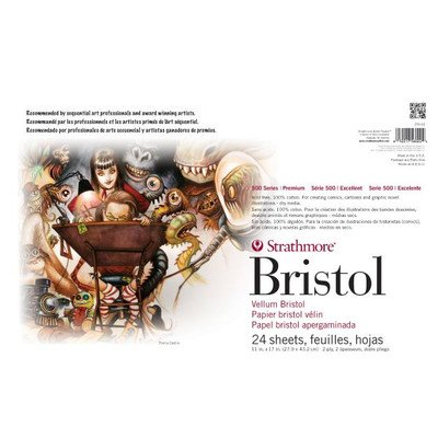 2-Ply Vellum Surface Sequential Art Bristol Sheets