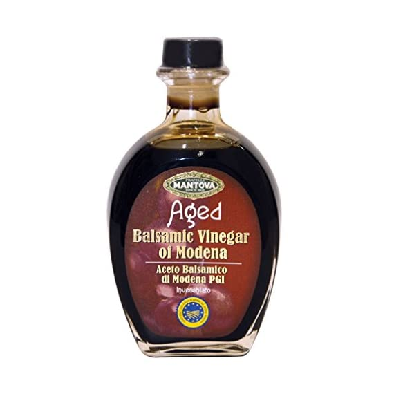 Mantova Aged Balsamic Vinegar of Modena IGP, 8.5 Ounce 1 Product of Italy No color added, only natural flavored
