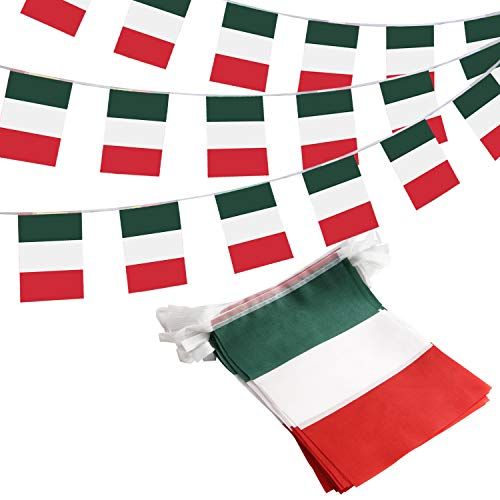 Anley Italy Italian Republic String Pennant Banners, Patriotic Events 2nd of June National Day Decoration Sports Bars - 33 Feet 38 Flags]()
