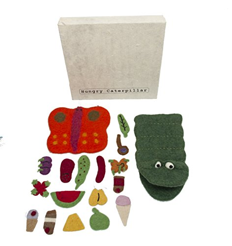 Papoose Toys Hungry Caterpillar Story Puppet - 18 Piece Boxed Set