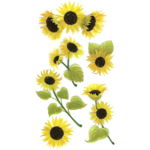 Jolee's Boutique 50-50024 Sticker 3D Sunny Sunflowers, - Sunflowers Dimensional Stickers