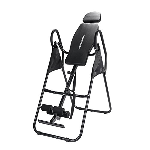 Health Therapy Folding Inversion Table of Fitness Handstand Exercise Machine(Black)