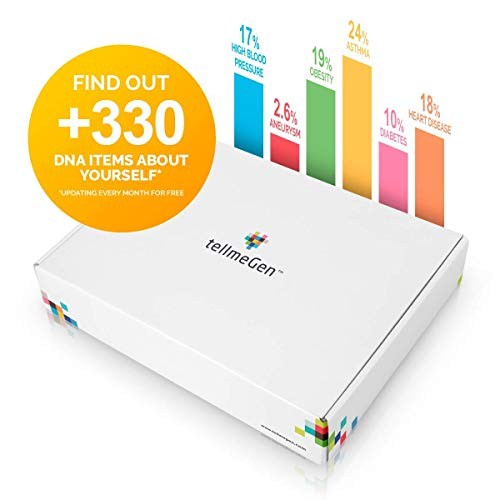 TellmeGen  Health & Ancestry DNA Test Kit | The Most Complete Genetic Testing for Home: 390+ Online Reports | Updates Included