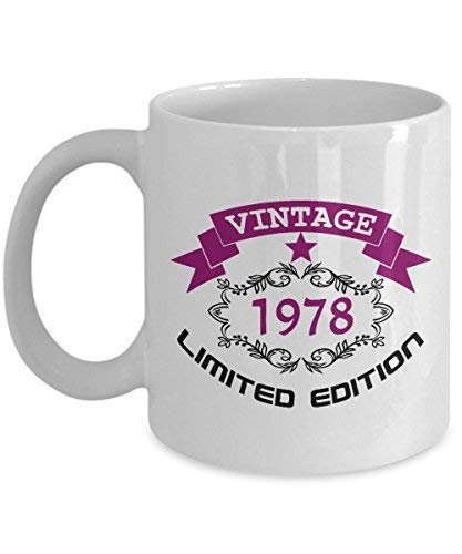 Happy 40th Birthday Mugs For Women 11 Oz Vintage 1978 40 Year Old Gifts