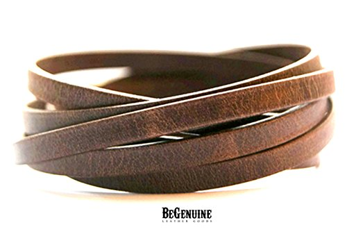 (Womens Mens Leather Wrap Bracelet Boho Jewelry with Strong Hypoallergenic Magnetic Clasp )