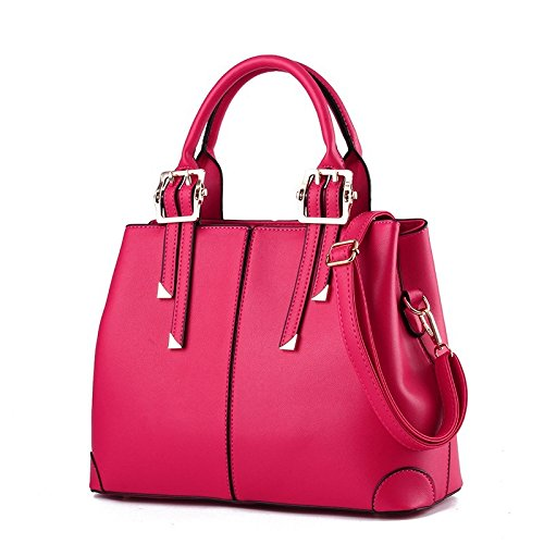 Meoaeo Nuevo Bolso Bolso Bandolera De Estilo Occidental, La Señora Cruz All-Match Rosa Roja Rose red