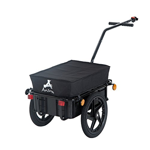 (Aosom Enclosed Bicycle Cargo Trailer - Black )