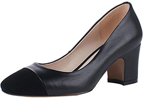 Arraysa Noir Escarpins Femme Chaussures Aaaa4 Sur Glisser Bloc 6CM TfqTxFrS