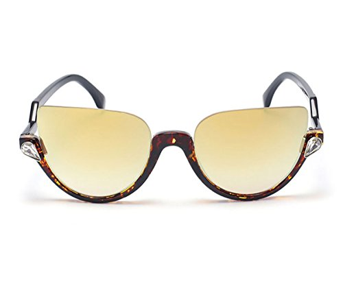Heartisan Personality Cat Eye Color Filter Plastic Frames UV400 Protection - Sunglasses Elle Aviator