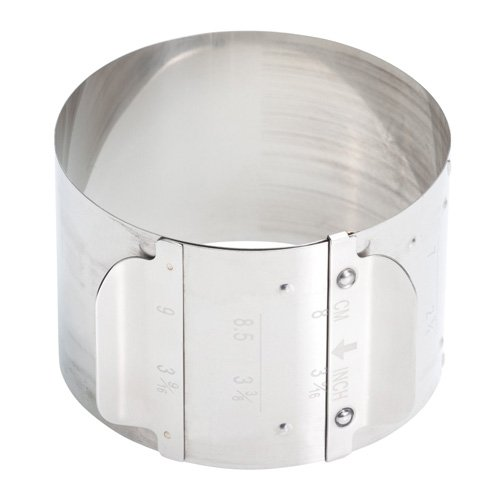 Set Of 2 Master Class Stainless Steel Adjustable Food Rings