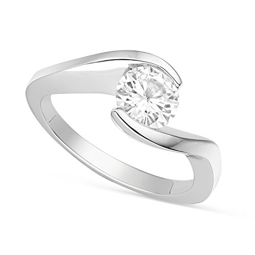 Forever Brilliant Round 6.5mm Moissanite Engagement Ring, 1.00ct DEW by Charles & Colvard