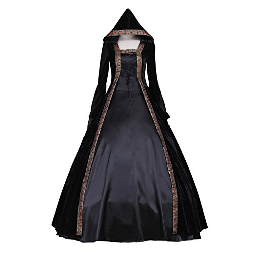 CosplayDiy Women's Deluxe Hooded Collar Victorian Dress Costume XXL by CosplayDiy (Image #8)