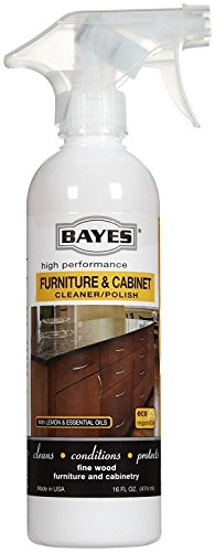 Bayes High-Performance Furniture, Cabinet Cleaner and Polish - Cleans, Conditions, and Preserves Fine Wood Furniture and Cabinetry - 16 oz, 6 Pack