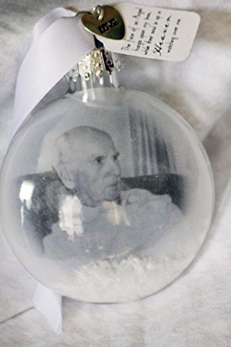 In Memory Christmas Ornament, Memorial Ornament, Lost loved one, Photo Ornament, Glass Ornament with Photograph, Picture Ornament, Picture Ornament Keepsake, First Christmas