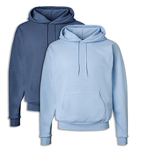 Hanes P170 Mens EcoSmart Hooded Sweatshirt 2XL 1 Denim Blue