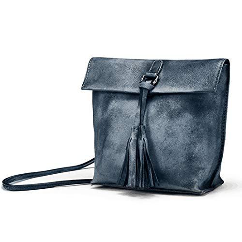 Gray Brown Pour Cuir À Petit Femme color Sac Dames Bandoulière En Main Yahuyaka Vintage OwqB67x7