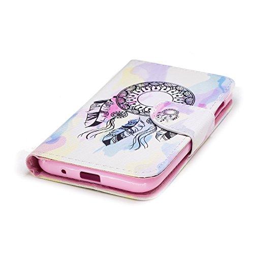 Funda para Xiaomi Redmi 5A , IJIA Dreamcatcher TPU + PU Cuero Ranuras para Tarjetas de Crédito Flip Caja [Estilo Libro,Soporte Plegable ] Cover Tapa Caso Parachoques Carcasa Cubierta Shell para Xiaomi