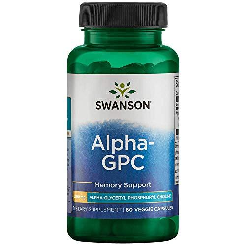 Swanson Alpha-Gpc Alpha Glycerophosphocholine 300 Milligrams 60 Veg Capsules