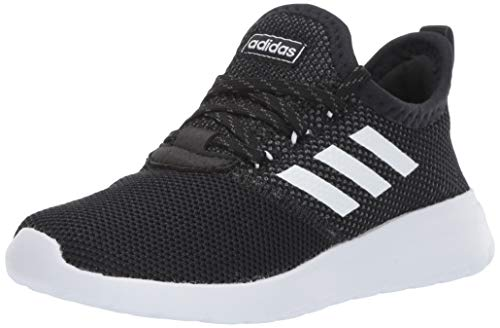adidas Unisex-Kid's Lite Racer Reborn, Black/White/Grey, 7 M US Big Kid