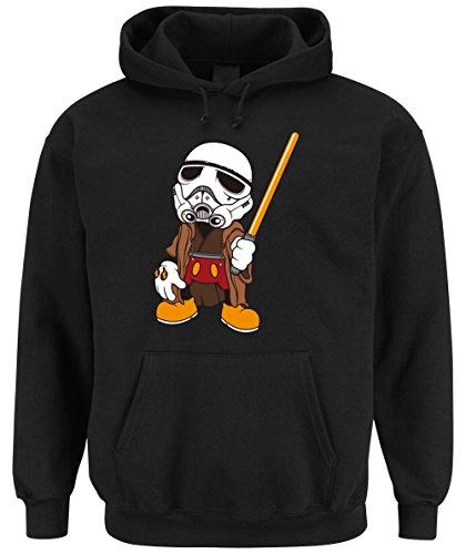 Jedi Mouse Hooded-Sweater Black Certified Freak