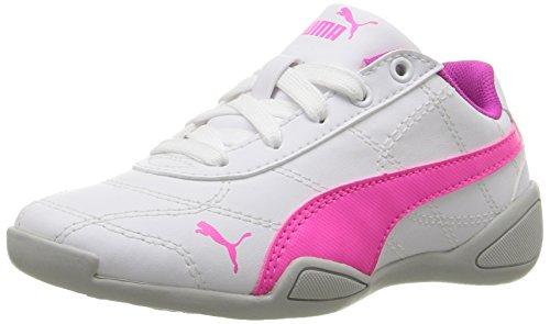 PUMA Tune Cat 3 Kids Sneaker (Little Kid), Puma White/Knockout Pink, 13 M US Little Kid
