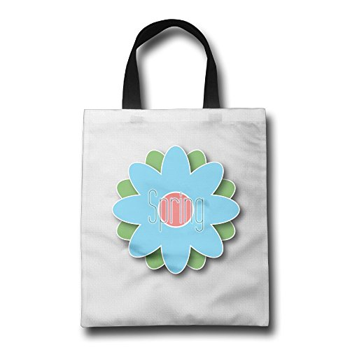 Wont Shopping Bag Reusable Eco 100% Polyester Spring Flower2 Portable For Kitchen And Outing,shopping,shoppingkitchen