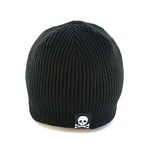 Born to Love - Black and Gray Baby Skull Tag Beanie L (3-10 yrs)