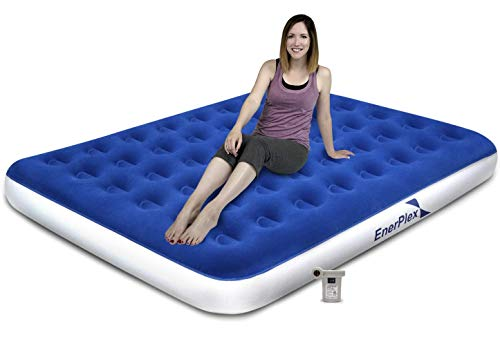 EnerPlex Never-Leak Camping Series Queen Camping Airbed with High Speed Pump Luxury Queen Size Air...