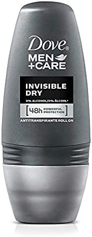 Dove Men+Care Desodorante Antitranspirante para Hombre Invisible Dry en Roll-on 50 ml